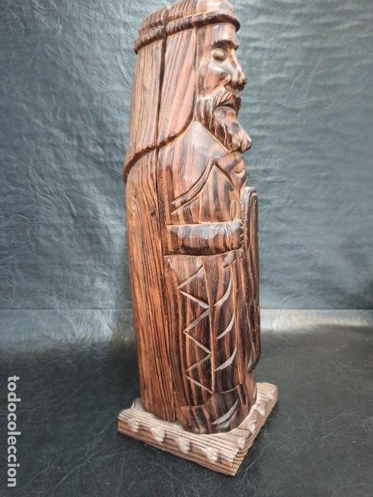 Coleccionismo Otros Botellas y Bebidas: Soberbio botellero realizado en madera tallada. Guerrero. PD - Foto 2 - 288608393