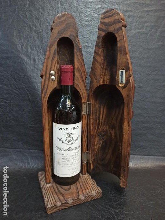 Coleccionismo Otros Botellas y Bebidas: Soberbio botellero realizado en madera tallada. Guerrero. PD - Foto 4 - 288608393