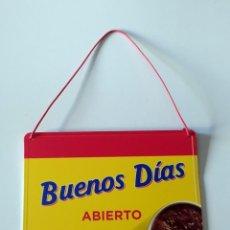 Coleccionismo Otros Botellas y Bebidas: COLA CAO - CARTEL DE ABIERTO/CERRADO. Lote 290176598