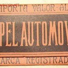 Papel de fumar: LIBRILLO PAPEL DE FUMAR EL AUTOMOVIL. Lote 13961658