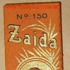 Papel de fumar: LIBRILLO PAPEL DE FUMAR ZAIDA. Lote 16389944