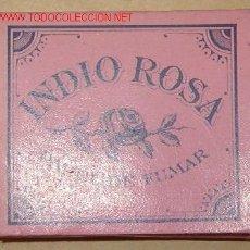 Papel de fumar: LIBRILLO PAPEL DE FUMAR INDIO ROSA. Lote 18115237