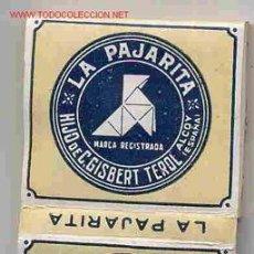 Papel de fumar: PAPEL DE FUMAR LA PAJARITA ALCOY. Lote 24519736