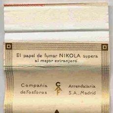 Papel de fumar: PAPEL DE FUMAR NIKOLA MADRID. Lote 152424601