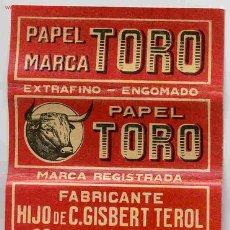 Papel de fumar: PAPEL DE FUMAR EL TORO ALCOY. Lote 147464229