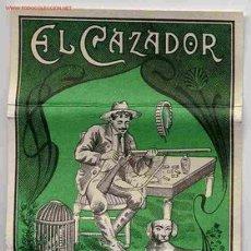 Papel de fumar: PAPEL DE FUMAR EL CAZADOR VERDE ALCOY ALICANTE ORIGINAL. Lote 243901980