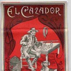Papel de fumar: PAPEL DE FUMAR EL CAZADOR ROJO ALCOY ALICANTE ORIGINAL. Lote 243902015