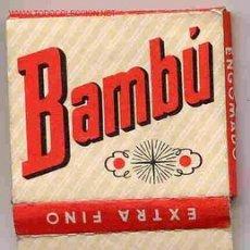 Papel de fumar: PAPEL DE FUMAR BAMBU CUADRADO ALCOY. Lote 40287622