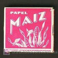 Papel de fumar: LIBRITO DE PAPEL DE FUMAR MAIZ. Lote 27826257