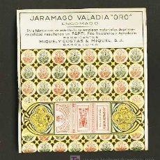 Papel de fumar: LIBRITO DE PAPEL DE FUMAR JARAMAGO VALADIA ORO. Lote 159049332