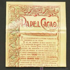 Papel de fumar: LIBRITO DE PAPEL DE FUMAR ESPECIAL PARA PIPA FABRICADO POR F. ROGER. Lote 13891651