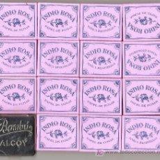 Papel de fumar: ALCOY - PAPEL DE FUMAR - 15 LIBRITOS + 1 CAJA METAL - NUEVOS - INDIO ROSA, BAMBU. Lote 287690543