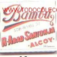 Papel de fumar: PAPEL DE FUMAR BAMBU. Lote 5941308