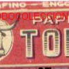 Papel de fumar: PAPEL DE FUMAR TORO. Lote 5932634