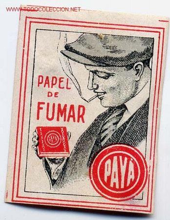 ETIQUETA O VIÑETA PUBLICIDAD PAPEL DE FUMAR PAYA MIDE APROXIMADAMENTE 4 X 5 CTMS. ANTIGUA ORIGINAL (Coleccionismo - Objetos para Fumar - Papel de fumar )
