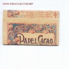 Papel de fumar: LIBRITO DE PAPEL DE FUMAR.PAPEL CACAO. Lote 5572262