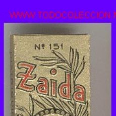 Papel de fumar: PAPEL DE FUMAR - * ZAIDA * Nº 151. Lote 23010522