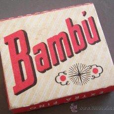 Papel de fumar: PAPEL DE FUMAR BAMBÚ (QUADRADO, 4X5CM APROX). Lote 10450873