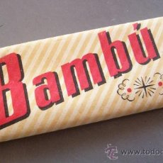Papel de fumar: PAPEL DE FUMAR BAMBÚ ( 8,3X3CM APROX). Lote 10450892
