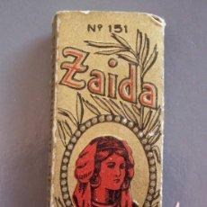 Papel de fumar: PAPEL DE FUMAR ZAIDA Nº151 (LLENO, 8X3CM APROX). Lote 10451367