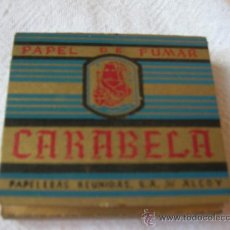 Papel de fumar: CARABELA LIBRILLO -PAPELERAS REUNIDAS DE ALCOY. Lote 10523002