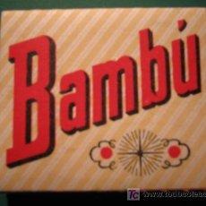 Papel de fumar: PAPEL DE FUMAR - BAMBU. Lote 27437188