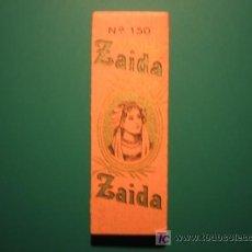 Papel de fumar: PAPEL DE FUMAR - ZAIDA Nº150. Lote 27437190