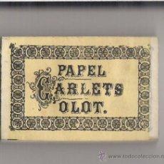 Papel de fumar: PAPEL DE FUMAR CARLETS **OLOT** .PAQUETE ENTERO. Lote 19930460