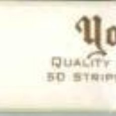 Papel de fumar: PAPEL DE FUMAR-YORKSHIRE 50 STRIPS-250 CIGARETTES. Lote 22287492