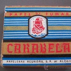 Papel de fumar: PAPEL DE FUMAR CARABELA (ENTERO). Lote 12654262
