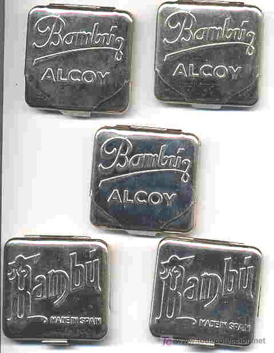 LOTE DE 50 CAJITAS PARA PAPEL DE FUMAR BAMBU ALCOY, ALICANTE. (Coleccionismo - Objetos para Fumar - Papel de fumar )