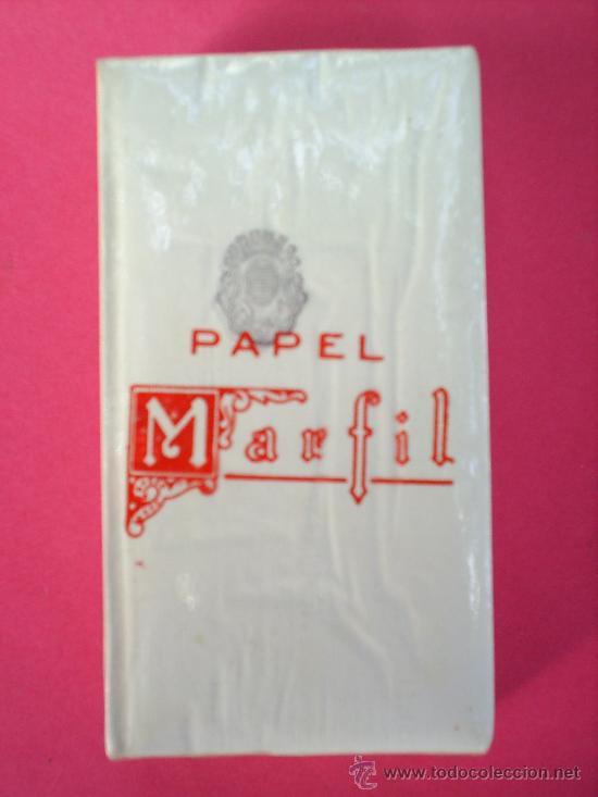 LIBRILLO PAQUETE ,PAPEL DE FUMAR MARFIL ALCOY AÑOS 30 (Coleccionismo - Objetos para Fumar - Papel de fumar )