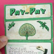 Papel de fumar: PAPEL DE FUMAR ,PAY-PAY ,ALCOY AÑOS 30. Lote 15438828