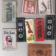Papel de fumar: LOTE DE 9 LIBRITOS ANTIGUOS DE PAPEL DE FUMAR. Lote 19930461