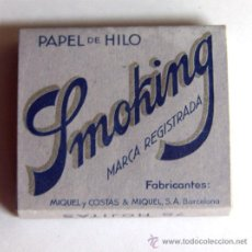Papel de fumar: PAPEL DE FUMAR DE HILO / SMOKING / LIBRITO ENTERO. Lote 46942629