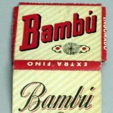 Papel de fumar: CAJA PAPEL FUMAR BAMBÚ SOBRINOS DE R ABAD SANTONJA ALCOY ALICANTE. Lote 18738959