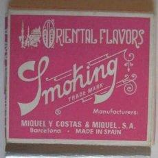 Papel de fumar: ANTIGUO PAPEL DE FUMAR. -- SMOKING MAIZ --.. ENVIO GRATIS¡¡¡. Lote 19415322