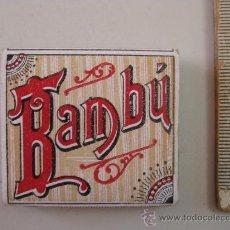Papel de fumar: PAPEL BAMBU - SOBRINOS DE R.ABAD SANTONJA - ALCOY. Lote 19970818