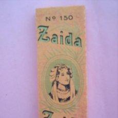 Papel de fumar: LIBRILLO PAPEL DE FUMAR -. N,150 ZAIDA , ALCOY , AÑOS 30. Lote 21426296