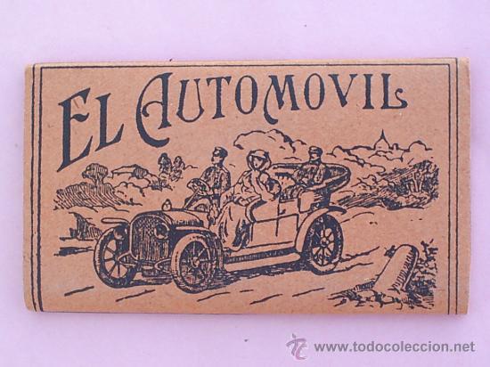 LIBRILLO PAPEL DE FUMAR , EL AUTOMOVIL , ALCOY AÑOS 30 (Coleccionismo - Objetos para Fumar - Papel de fumar )