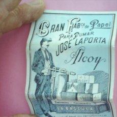 Papel de fumar: LIBRILLO PAPEL DE FUMAR , LA BASCULA , ALCOY AÑOS 30. Lote 21426380