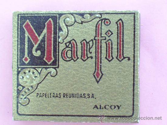 Papel de fumar: librillo papel de fumar - marfil - viselado , alcoy años 30 - Foto 2 - 21428476