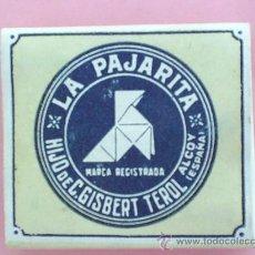 Papel de fumar: LIBRILLO PAPEL DE FUMAR , LA PAJARITA , ALCOY AÑOS 30. Lote 39581018