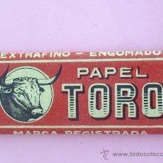 Papel de fumar: LIBRILLO PAPEL DE FUMAR EL TORO - ALCOY AÑOS 30. Lote 175560303