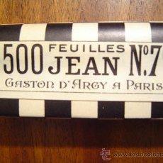 Papel de fumar: PAPEL DE FUMAR JEAN Nº 7 BIS - LIBRO DE 500 HOJAS - NUEVO - GASTON D'ARGY A PARIS ( 500 FEUILLES ). Lote 26758141