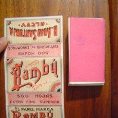 Papel de fumar: PAPEL DE FUMAR BAMBU EXTRA FINO SUPERIOR - LIBRO DE 500 HOJAS - R. ABAD SANTONJA ( ALCOY ) - NUEVO. Lote 26470789