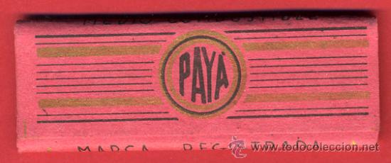 Papel de fumar: PAPEL DE FUMAR , PAYA ALARGADO, SUPERIOR ENGOMADO , ORIGINAL ANTIGUO , CON EL PAPEL - Foto 2 - 46984322