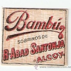Papel de fumar: GUARDA SELLOS BAMBU - ALCOY ALICANTE-. Lote 28337378