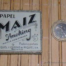 Papel de fumar: PAPEL DE FUMAR MAIZ SMOKING. Lote 30025149