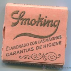 Papel de fumar: PAPEL DE FUMAR SMOKING, PAPEL DE ARROZ. Lote 31377794